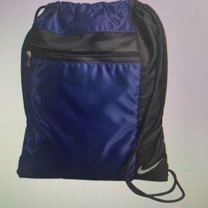 Nike navy / black sack bag